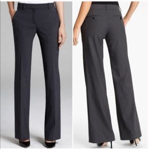 Theory Wool Wide Leg Pants Career Slacks Gray